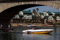 /images/133/2011-04-02-havasu-bridge-boat-65619.jpg - #09118: Boat at London Bridge in Lake Havasu City … April 2011 -- London Bridge, Lake Havasu City, Arizona