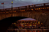 /images/133/2011-04-02-havasu-bridge-evening-65868.jpg - #09123: Evening at London Bridge in Lake Havasu City … April 2011 -- London Bridge, Lake Havasu City, Arizona