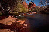 /images/133/2011-04-10-sedona-cat-river-66405.jpg - #09133: Cathedral Rock and Oak Creek in Sedona … April 2011 -- Cathedral Rock, Sedona, Arizona