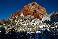 /images/133/2011-04-10-sedona-coffeepot-66254.jpg - #09139: Morning snow in Sedona … April 2011 -- Thunder Mountain, Sedona, Arizona