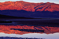 /images/133/2011-06-21-dv-badwater-sunrise-77849.jpg - #09312: Badwater morning mountain reflection in Death Valley … June 2011 -- Badwater, Death Valley, California