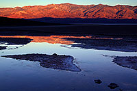 /images/133/2011-06-21-dv-badwater-sunrise-77868.jpg - #09314: Badwater morning mountain reflection in Death Valley … June 2011 -- Badwater, Death Valley, California