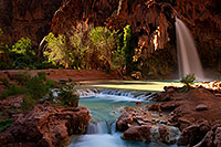/images/133/2011-06-26-havasu-falls-79752.jpg - #09345: Havasu Falls at sunrise … June 2011 -- Havasu Falls!, Havasu Falls, Arizona