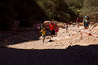 /images/133/2011-06-27-hava-canyon-hikers-81054.jpg - #09355: Along Havasupai Trail … June 2011 -- Havasupai Trail, Havasu Falls, Arizona
