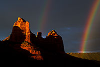 /images/133/2011-08-01-sedona-rainbow-89600.jpg - #09403: Rainbow over Red Rocks in Sedona … August 2011 -- Schnebly Hill, Sedona, Arizona