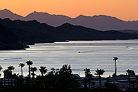/images/133/2011-08-14-lake-havasu-evening-90614.jpg - #09427: Evening mountain silhouettes at Lake Havasu … August 2011 -- Lake Havasu, Arizona