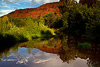 /images/133/2011-08-22-sedona-cathedral-pond-90761.jpg - #09430: Reflection of Cathedral Rock in Sedona … August 2011 -- Cathedral Rock, Sedona, Arizona