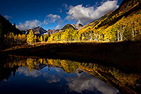 /images/133/2011-10-04-maroon-pond-104320.jpg - #09575: Pond reflection of Maroon Bells, Colorado … October 2011 -- Maroon Bells, Colorado