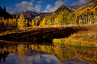 /images/133/2011-10-04-maroon-pond-104333.jpg - #09576: Pond reflection of Maroon Bells, Colorado … October 2011 -- Maroon Bells, Colorado