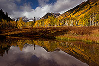 /images/133/2011-10-05-maroon-pond-104854.jpg - #09582: Pond reflection of Maroon Bells, Colorado … October 2011 -- Maroon Bells, Colorado