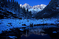 /images/133/2011-10-28-maroon-sunrise-snowy-109862.jpg - #09675: Snowy sunrise in Maroon Bells, Colorado … October 2011 -- Maroon Bells, Colorado