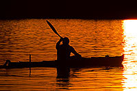 /images/133/2011-11-12-tempe-lake-boats-114025.jpg - #09703: Kayaker at sunset at Tempe Town Lake … November 2011 -- Tempe Town Lake, Tempe, Arizona