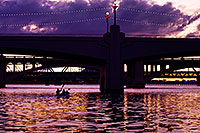 /images/133/2011-11-13-tempe-lake-sunset-117822.jpg - #09716: Kayakers in the evening at Tempe Town Lake … November 2011 -- Tempe Town Lake, Tempe, Arizona