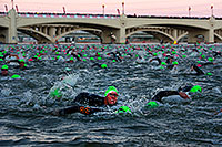 /images/133/2011-11-20-ironman-swim-d3s-0896.jpg - #09842: 00:05:23 - Early in the swim - Ironman Arizona 2011 … November 2011 -- Tempe Town Lake, Tempe, Arizona