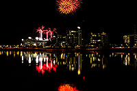 /images/133/2011-11-20-tempe-asu-fireworks-121281.jpg - #09842: Fireworks over ASU from Tempe Town Lake … November 2011 -- Tempe Town Lake, Tempe, Arizona