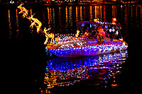 /images/133/2011-12-10-tempe-aps-lights-127217.jpg - #09863: Boat #13 before APS Fantasy of Lights Boat Parade … December 2011 -- Tempe Town Lake, Tempe, Arizona