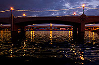 /images/133/2011-12-20-tempe-twilight-bridg-128524.jpg - #09880: Tempe Town Lake night reflections … December 2011 -- Tempe Town Lake, Tempe, Arizona