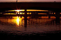 /images/133/2011-12-29-tempe-sunset-bridge-129210.jpg - #09885: Sunset at Tempe Town Lake … December 2011 -- Tempe Town Lake, Tempe, Arizona