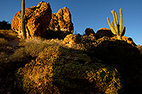/images/133/2012-03-15-supers-rock-view-148792.jpg - #10079: Evening in Superstitions … March 2012 -- Apache Trail Road, Superstitions, Arizona