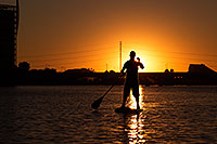 /images/133/2012-10-14-tempe-sunst-up-pad-1dx_4259.jpg - #10274: Stand up paddler at Tempe Town Lake … October 2012 -- Tempe Town Lake, Tempe, Arizona