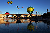 /images/133/2013-01-21-havasu-balloons-22716.jpg - 10770: Hot Air Balloons at London Bridge during Lake Havasu Balloon Fest … January 2013 -- London Bridge, Lake Havasu City, Arizona
