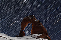 /images/133/2013-12-09-arches-del-85_50-1d4_2762.jpg - #11389: 28 minutes of star trails at Delicate Arch in Arches National Park … December 2013 -- Delicate Arch, Arches Park, Utah