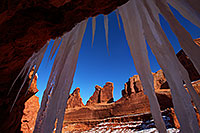 /images/133/2013-12-22-arches-park-ice-3-1dx_7922.jpg - #11440: Park Avenue in Arches National Park … December 2013 -- Park Avenue, Arches Park, Utah
