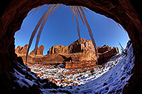 /images/133/2013-12-22-arches-park-ice-3-5d3_6172.jpg - #11441: Park Avenue in Arches National Park … December 2013 -- Park Avenue, Arches Park, Utah