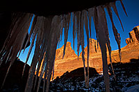 /images/133/2013-12-24-arches-park-ice-8-5d3_6924.jpg - #11453: Park Avenue in Arches National Park … December 2013 -- Park Avenue, Arches Park, Utah
