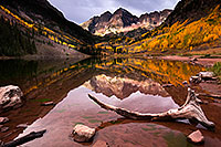 /images/133/2015-09-30-maroon-bells-5d3_4948.jpg - #12650: Maroon Lake reflections of Maroon Bells, Colorado … September 2015 -- Maroon Lake, Maroon Bells, Colorado