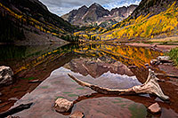 /images/133/2015-09-30-maroon-bells-95-5d3_5193.jpg - #12651: Maroon Lake reflections of Maroon Bells, Colorado … September 2015 -- Maroon Lake, Maroon Bells, Colorado
