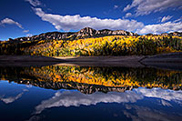 /images/133/2015-10-04-silver-reflection-6d_1938.jpg - #12666: Images of Owl Creek Pass … October 2015 -- Silver Jack Reservoir, Owl Creek Pass, Colorado