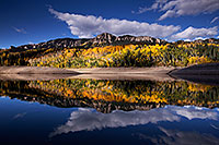 /images/133/2015-10-04-silver-reflection-6d_1956.jpg - #12666: Images of Owl Creek Pass … October 2015 -- Silver Jack Reservoir, Owl Creek Pass, Colorado