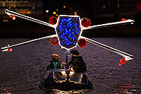 /images/133/2015-12-12-tempe-aps-lights-1dx_02445.jpg - #12779: Star Wars boat at APS Fantasy of Lights Boat Parade … December 2015 -- Tempe Town Lake, Tempe, Arizona