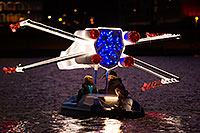 /images/133/2015-12-12-tempe-aps-lights-1dx_02451.jpg - #12780: Star Wars boat at APS Fantasy of Lights Boat Parade … December 2015 -- Tempe Town Lake, Tempe, Arizona
