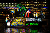 /images/133/2015-12-12-tempe-aps-lights-1dx_02934.jpg - #12792: Boat #11 with Minions at APS Fantasy of Lights Boat Parade … December 2015 -- Tempe Town Lake, Tempe, Arizona