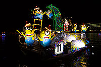 /images/133/2015-12-12-tempe-aps-lights-6d_6000.jpg - #12800: Boat #11 with Minions at APS Fantasy of Lights Boat Parade … December 2015 -- Tempe Town Lake, Tempe, Arizona