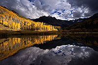 /images/133/2016-10-01-sneffels-pond-ref-1dx_26189.jpg - #13108: Mount Sneffels reflection … October 2016 -- Mount Sneffels, Colorado