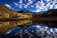 /images/133/2016-10-02-sneffels-pond-ref-1dx_26529.jpg - #13110: Mount Sneffels reflection … October 2016 -- Mount Sneffels, Colorado