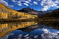 /images/133/2016-10-02-sneffels-pond-ref-1dx_26535.jpg - #13111: Mount Sneffels reflection … October 2016 -- Mount Sneffels, Colorado