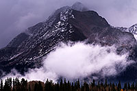 /images/133/2016-10-09-durango-mtns-505-1dx_27505.jpg - #13131: Mountains in the fog by Durango, Colorado … Oct 2016 -- Durango, Colorado
