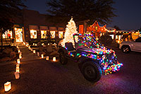 /images/133/2016-12-03-tubac-lights-1dx_31183.jpg - #13197: USMC Jeep with Christmas Lights in Tubac, Arizona … December 2016 -- Tubac, Arizona