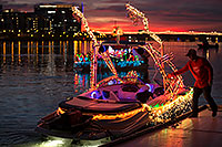 /images/133/2016-12-10-tempe-aps-lights-1dx_31625.jpg - #13210: Boat #40 at APS Fantasy of Lights Boat Parade … December 2016 -- Tempe Town Lake, Tempe, Arizona
