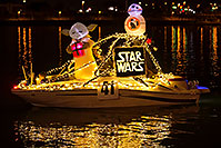 /images/133/2016-12-10-tempe-aps-lights-1dx_32818.jpg - #13247: Boat #41 Star Wars at APS Fantasy of Lights Boat Parade … December 2016 -- Tempe Town Lake, Tempe, Arizona