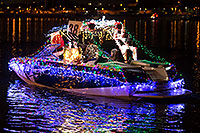 /images/133/2016-12-10-tempe-aps-lights-1dx_33176.jpg - #13253: Boat #38 with Santa Claus at APS Fantasy of Lights Boat Parade … December 2016 -- Tempe Town Lake, Tempe, Arizona