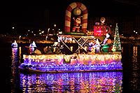 /images/133/2017-12-09-tempe-boats-lucla-5d4_1769.jpg - #14187: Boat #16 with Santa - Christmas Night Fever - at APS Fantasy of Lights Boat Parade … December 2017 -- Tempe Town Lake, Tempe, Arizona