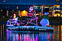 /images/133/2017-12-09-tempe-boats-luim-5D4_0875.jpg - #14198: Boat #25 with Santa and Snowman at APS Fantasy of Lights Boat Parade … December 2017 -- Tempe Town Lake, Tempe, Arizona