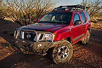 /images/133/2018-04-03-rita-xterra-m10_0044.jpg - #14258: Xterra in morning light in Green Valley, Arizona … April 2018 -- Green Valley, Arizona