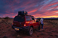/images/133/2020-05-14-gv-xterra-sunset-a7r3_24075.jpg - #14804: Xterra and coolers … June 2020 -- Santa Rita Mountains, Arizona