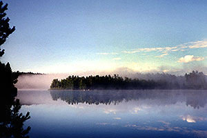 Morning on Rabbit Lake in Temagami, Canada